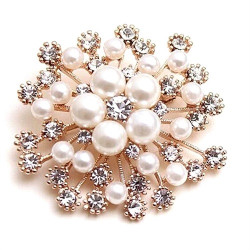 Women's New Crystal Brooch Pines Fashion Women Wedding Dress Hijab Pins Jewelry Rhinestone Large Brooches