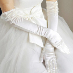 Women Wedding Bridal Dance Gloves