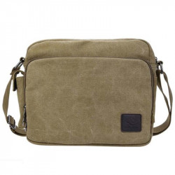 Men's and women's letters embellished with messenger bag canvas crossbody bag