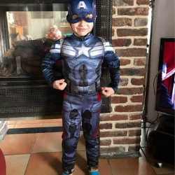Captain America Costume Movie Cosplay