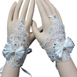 Wedding Gown Fingerless Gloves