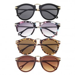 1 Piece Metal Frame Round Sunglasses Arrow Style Eyewear With Metal Frame For Unisex Women Men