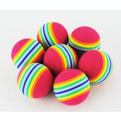 Free Shipping 50Pcs Rainbow Stripe Foam Sponge Golf Balls Swing Indoor Practice Training Aids Ball Light-Weight Wholesale