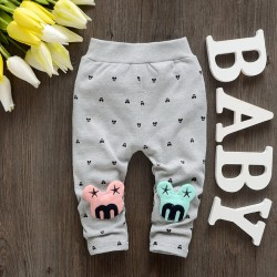 2017 Spring New Cotton Baby Leggings Girls Pants With Letter Hight Quality Toodlers Pant A109
