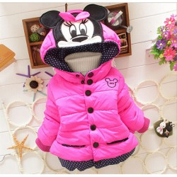 2017 Children Outerwear Cotton Winter Hooded Coats Winter Jacket Kids Coat Children & #39;S Winter Clothing Girls Down & Amp; Parkas