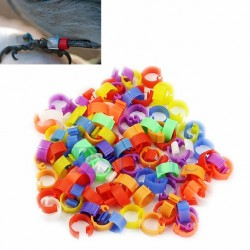 100X Chicken Hen Pigeon Leg Poultry Dove Bird Chicks Duck Parrot Clip Rings Band