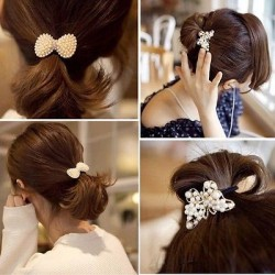 2017 Butterfly Jewelry Rhinestone Bow Shine Crown Hair Rope Hairband Bowknot