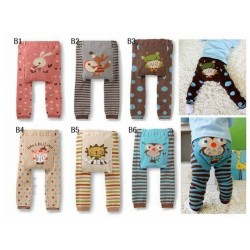 2017 Baby Pants Cartoon Print Knitted Busha Pp Pants Elastic Waist Toddler Leggings Kids Clothes 3-24 M