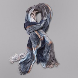 2017 Fall Fashion Brand Winter Cotton Long Neck Warm Cashmere Scarves Bufanda Escocesa Plaid Woven Wrinkled Cotton Scarf Men