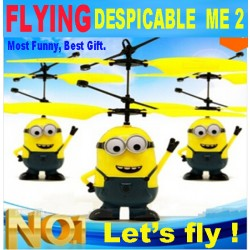 Popular Sale 2017 Best Gift ! Very Funny Toy ! Wholesale Remote Control Rc Despicable Me Minion Helicopter Quadcopter Drone Ar.Drone