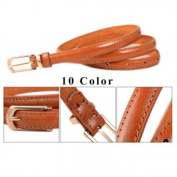 Female Straps Leather Belt Waistband Cummerbund For Apparel Accessories , Candy Color Metal Buckle Thin Casual Belt For Women