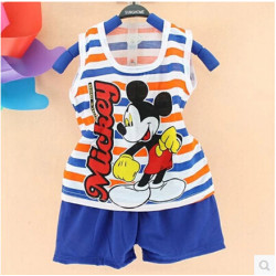 2017 Popular New Summer Children & #39;S Two-Piece Set Cotton Suit Children Vest Suit Children & #39;S Clothing Set Girls Boys Sets