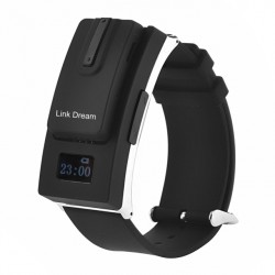 Fashion Black/White Detachable Reloj Smart Bluetooth V3.0 Headset Earphone Men Women Sport Smart Watch For Iphone6 Samsung Htc