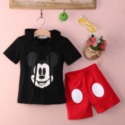 Baby Boy Cartoon Clothing 2017 Summer Girls Kids Minnie Mouse Clothes Tops+Dress Tutu Pants Outfit Suit