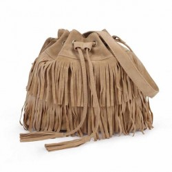 2017 New Popularsale Cheaper Price Promotion Tassel Lady Bucket Bags,Faux Suede Leather Shoulder Bags Woman,Bags Popular Products
