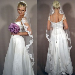 Low price promotional veil veil handmade custom bridal fashion market in Europe and the United States veil