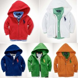 Boys long sleeve hot selling solid color hooded sweater zipper jacket PO discounts low price children's clothing