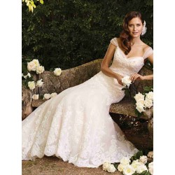 Both sides of the shoulder sexy lace bride wedding dress fishtail Slim low prices in Europe and the US market high-end short tail wedding