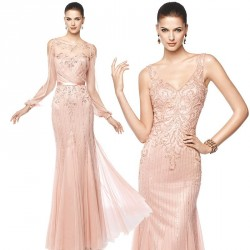Star high-low price sexy body luxury handmade sparkling diamond-shaped stage straight lines shoulder Slim beautiful dress