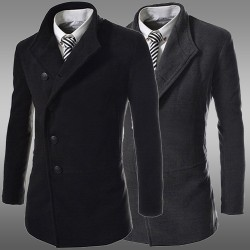 Low price member price discounts double-sided men's jacket low price long style single-breasted wool coat