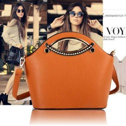 New Product brand ladies bag ladies hand diagonal package mouth retro bucket bag discount package