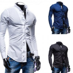 Low price discount fashion fashion men's long-sleeved shirt