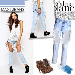 Europe and the United States market new models fashion cotton jeans nine sub boyfriend jeans