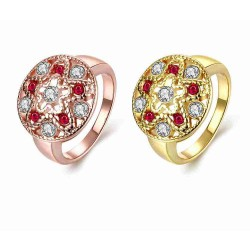 Creative jewelry discounts star pattern hollow zircon rose gold rings gold jewelry classic low prices