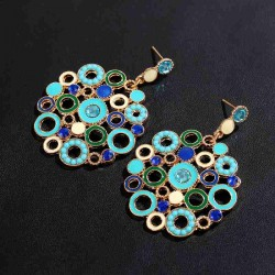 European market and the US market exaggerated fashion earrings round diamond earrings nightclub popular personality Ms. earrings