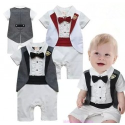 Crown boys cotton dress patterned leotard paragraph one hundred days clothing tie jumpsuit low price fast delivery