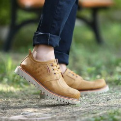 Fast delivery of new models in autumn and winter shoes men's casual shoes hollow breathable shoes bulk of tooling leather shoes