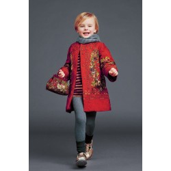 Fast delivery of international brand female Tong Chunqiu winter long-sleeved red print baby long-sleeved jacket children