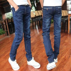 Mens jeans, men equipped with elastic Slim jeans autumn