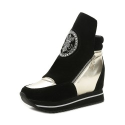 Promotions men's shoes new autumn and winter fashion style lady high-heeled shoes inside the British-style casual ladies' shoes breathable fast delivery