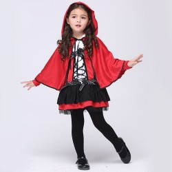 Childrens Halloween costume for girls Little Red Devil red cloak cosplay costumes, performance clothing