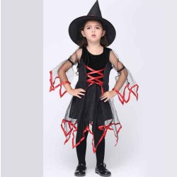 Childrens Halloween Costumes Cosplay Kids Costume Set yarn female witch costumes