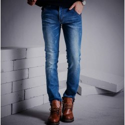 Fall Winter new style mens jeans Slim pencil pants elastic pencil pants casual pencil pants men