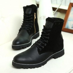 Fast shipping autumn and winter new style British style Martin boots outdoor boots men's boots really warm cotton velvet boots