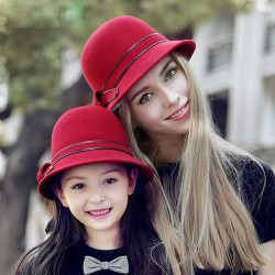 Popular autumn and winter dome hat wool hat Ms. materials basin-type hat parent-child mother and child hat