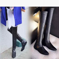 Low prices fall and winter new style ladies shoes handmade leather Ms. boots over the knee boots knight boots full leather quality assurance