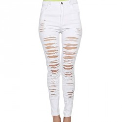 Europe and the United States market new models pants waist retro personality retro elastic feet pencil jeans 78646