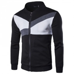 Lower selling prices of new models fitted tide men cardigan sweater fashion sweater stitching big yards