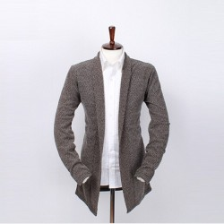 Low price hot selling good quality long style men's knit cardigan sweater coat