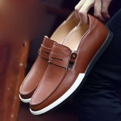 Fast delivery leather head layer cowhide single shoes fashion casual shoes