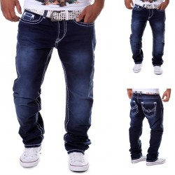 Lower selling prices of new models men's spring and summer in Europe and America market hot selling casual straight jeans