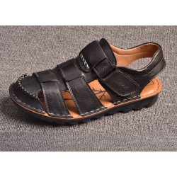 Fast delivery Men's sandals summer new style men's leather sandals beach shoes men's casual high-quality leather