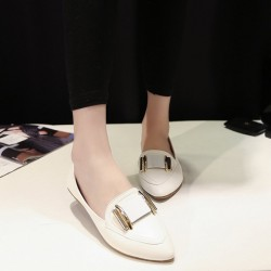 Discount Spring new style British style flat shoes flat exposed instep flat heel shoes lady casual flat shoes for all seasons match