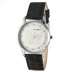 Popular men's watches, leather quartz material with young students watch fashion minimalist style grid fast sales