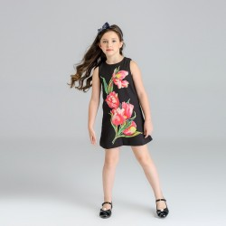 Fast delivery low price children's clothing female Tong Chunqiu models girls Jixia flower pattern jacquard vest skirt sleeveless dress