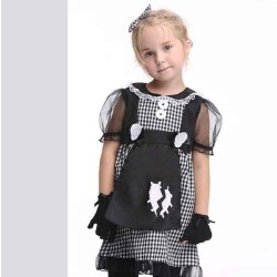 Kids Europe and US markets cosplay performance clothing girls dress suit maid role-playing festival
